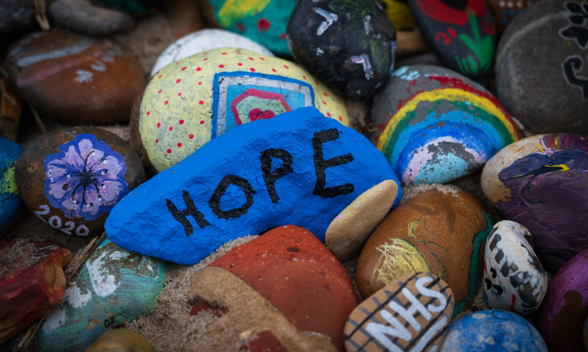 hope painted on a rock